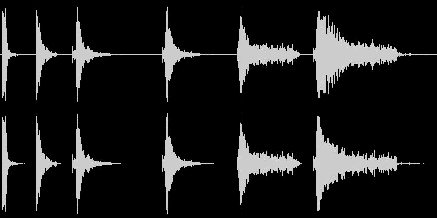 キャノン、処理済み、6バージョン、...の未再生の波形