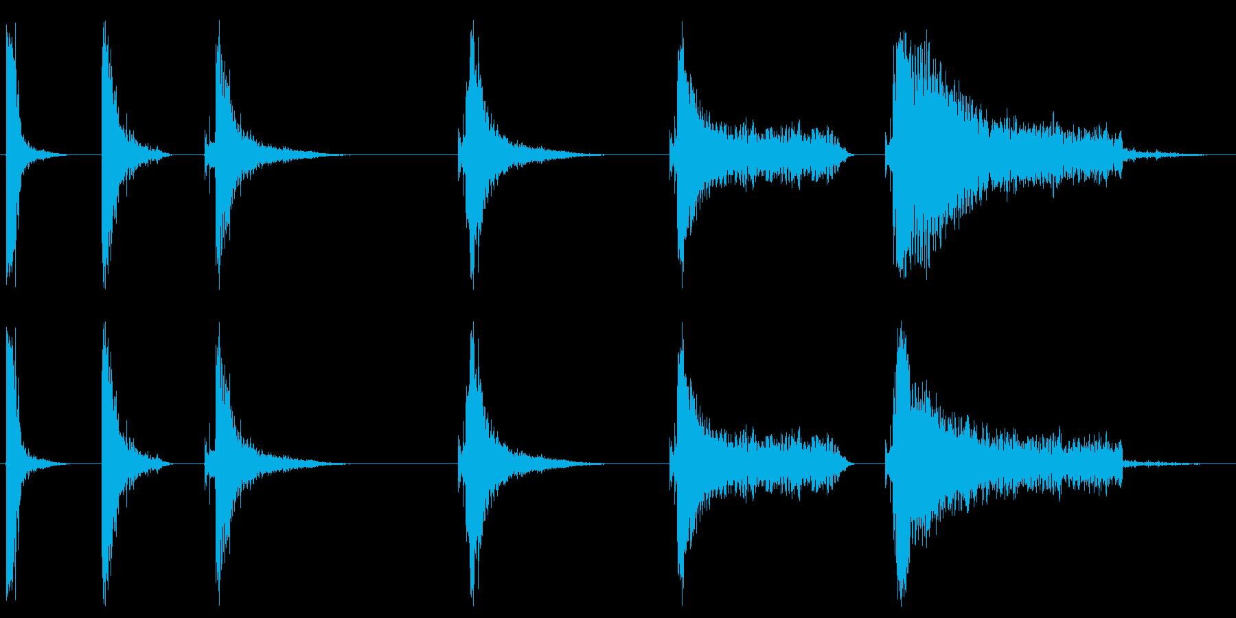 キャノン、処理済み、6バージョン、...の再生済みの波形