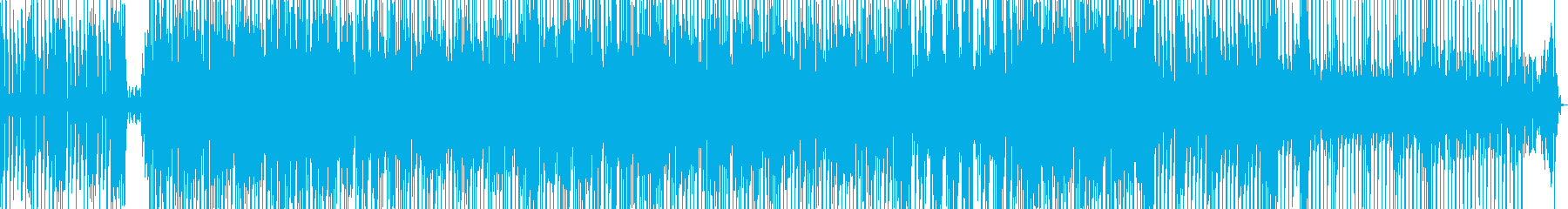 激しいダンス曲の再生済みの波形