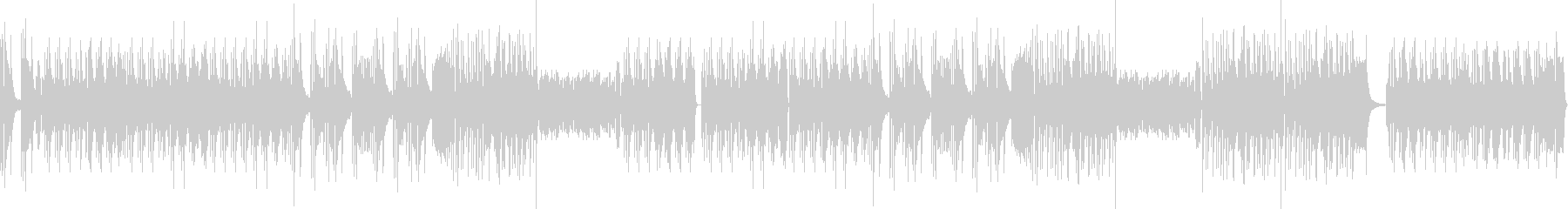 Piano solo full of exhilaration's unreproduced waveform