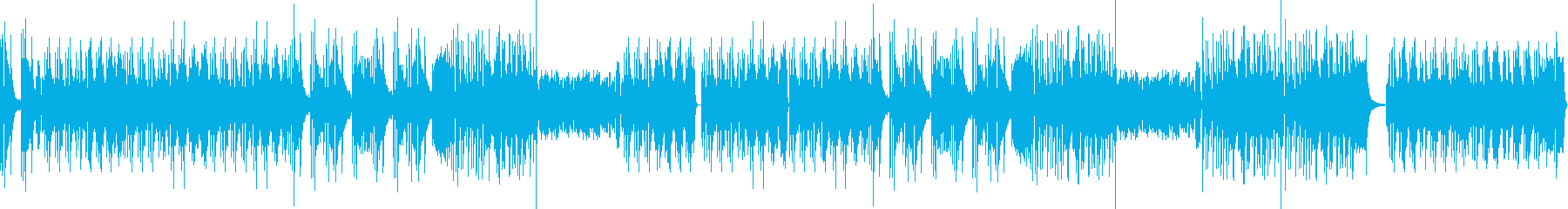 Piano solo full of exhilaration's reproduced waveform