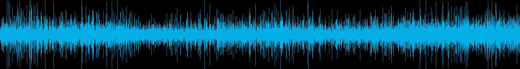 雨音(傘の下、近接、ループ可)雷鳴ありの再生済みの波形