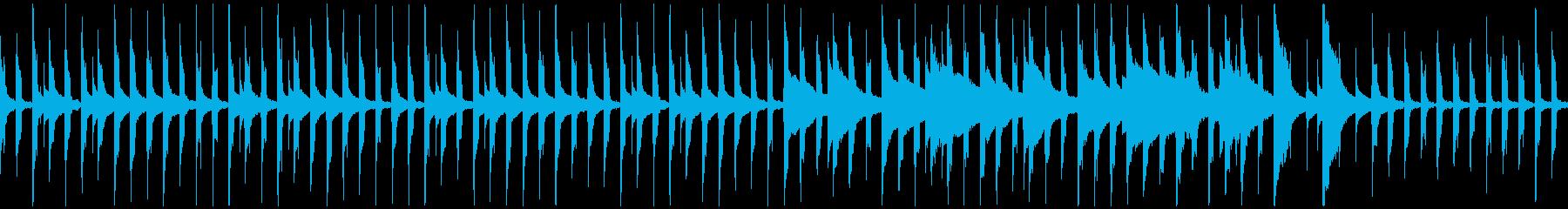可愛らしい三拍子のゆったりほのぼの曲の再生済みの波形