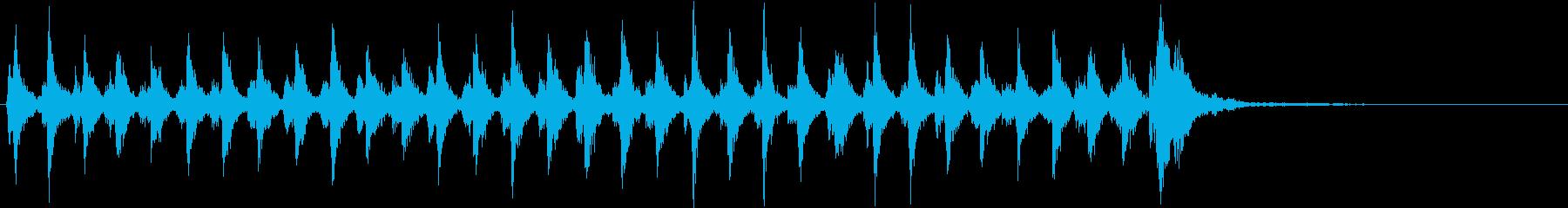 Xmasに最適トナカイベルのループ音01の再生済みの波形