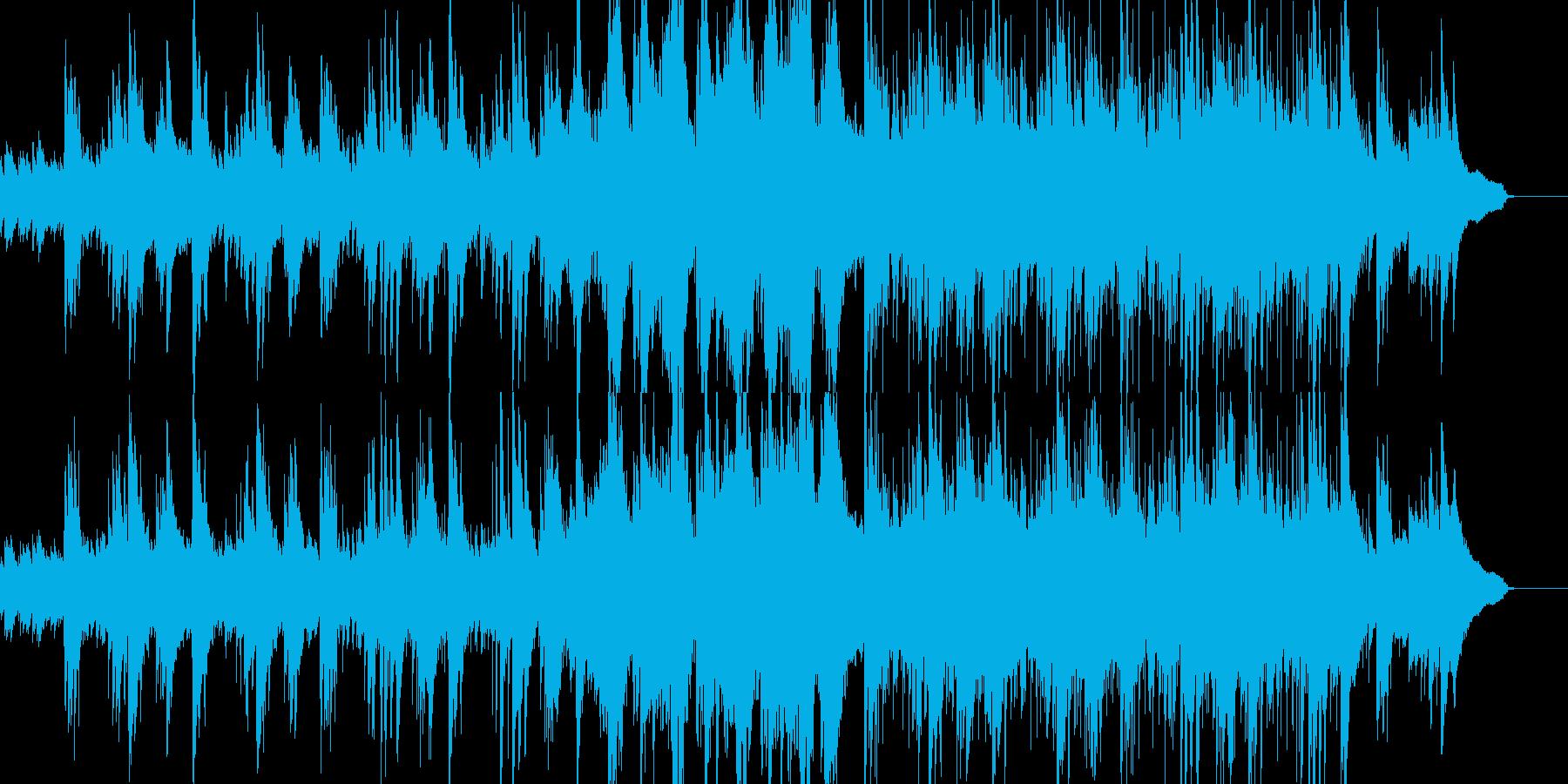 アコギ&ピアノの爽やかなアニメBGM風の再生済みの波形