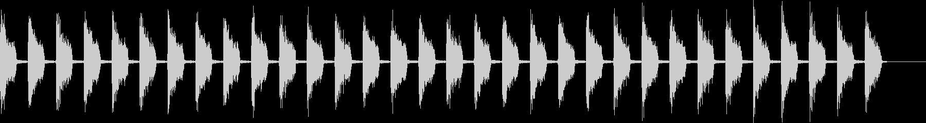 ティッティッティッの未再生の波形