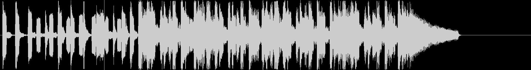 リコーダーを用いた15秒ジングルの未再生の波形