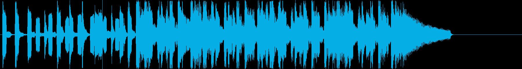 リコーダーを用いた15秒ジングルの再生済みの波形
