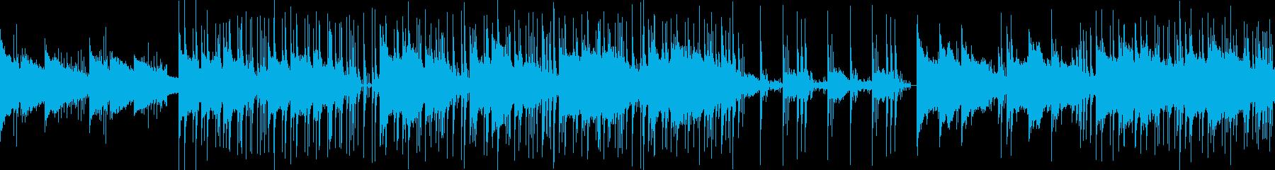 おしゃれでポップなBGM風の再生済みの波形