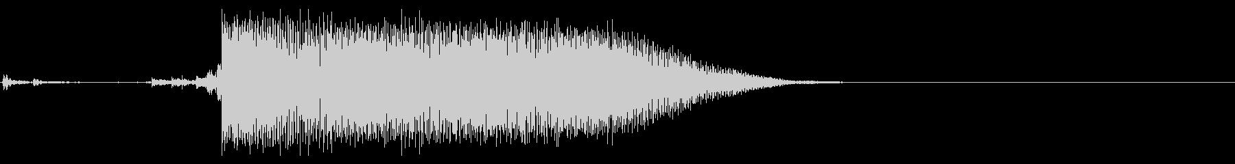 【生録音】ステンレス・スプーンの音 1の未再生の波形