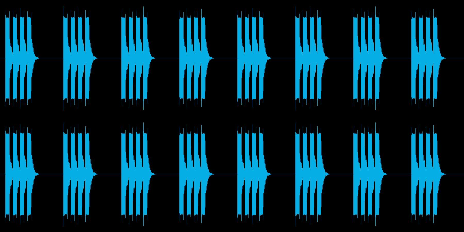時計 アラーム03-02(強 ループ)の再生済みの波形