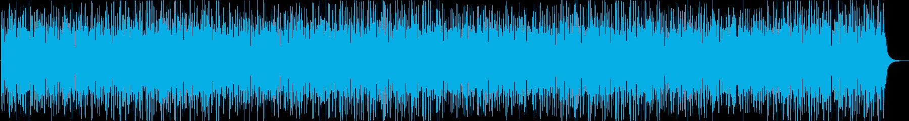 歯切れの良い軽快なロックBGMの再生済みの波形