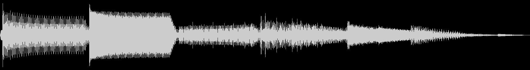 ピロロロ(決定 カーソル移動 スワイプ)の未再生の波形
