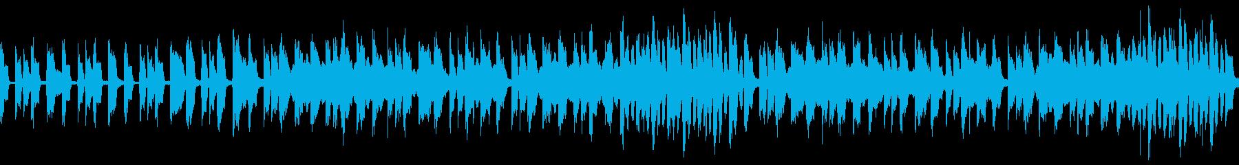 エレクトロ ゆったりと道を歩くような曲の再生済みの波形
