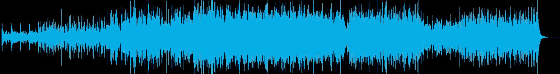 疾走感と和の雰囲気の和太鼓曲の再生済みの波形
