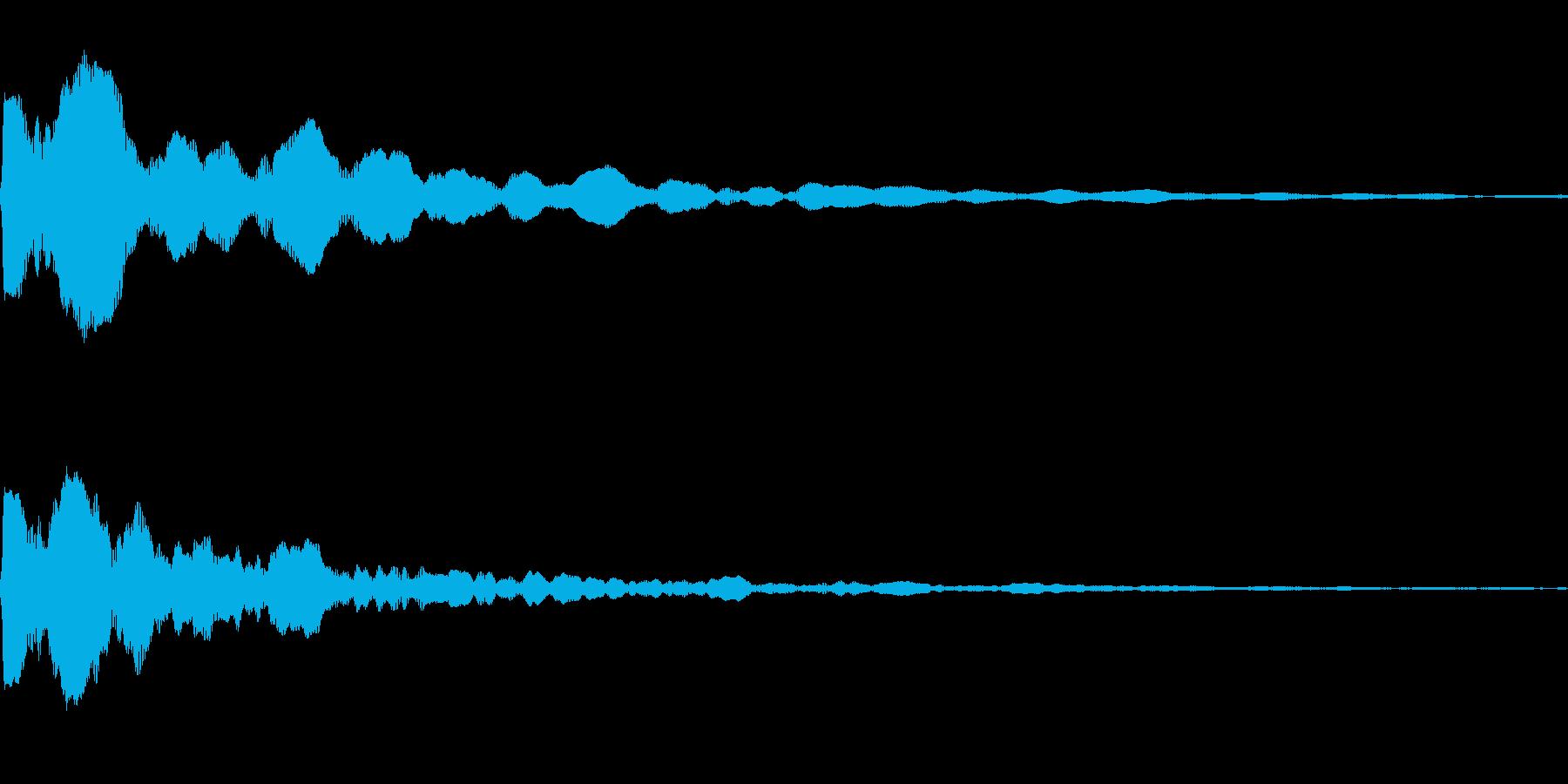 決定音に使えそうな電子音の再生済みの波形