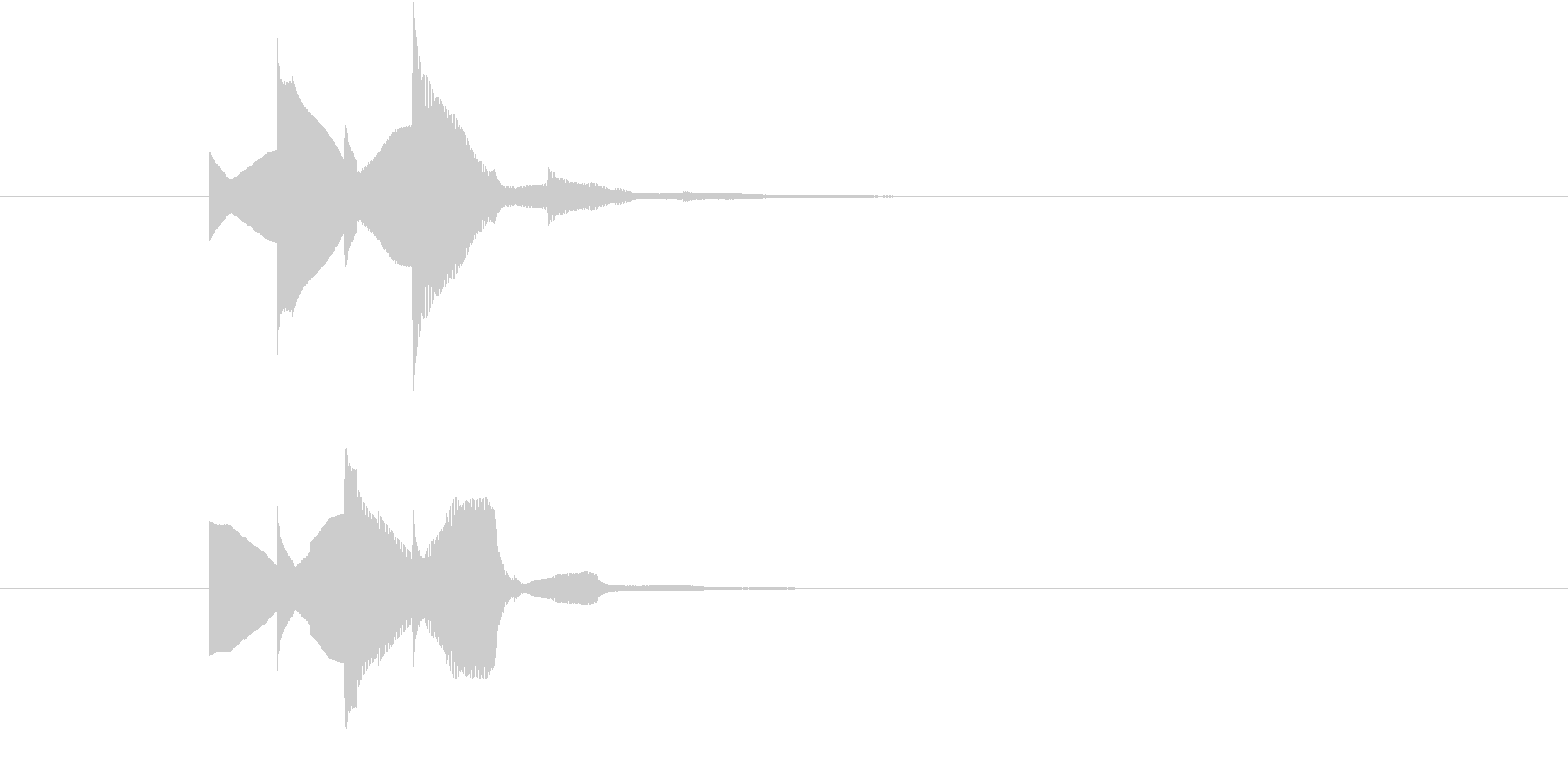 「お知らせです!」的な場面で使う明るい音の未再生の波形
