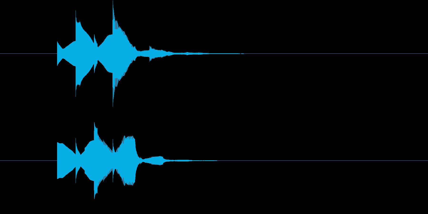 「お知らせです!」的な場面で使う明るい音の再生済みの波形