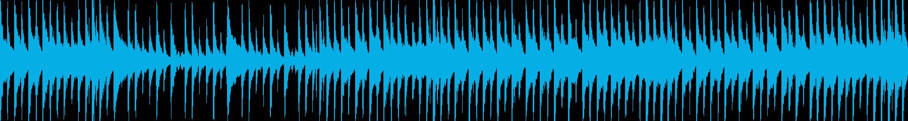 ウクレレ、アコースティックギター、...の再生済みの波形