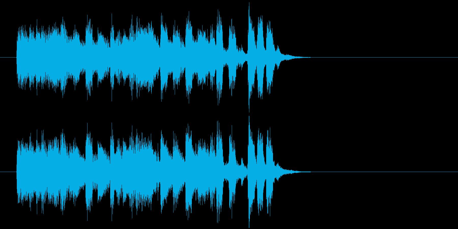 ジングル(ボサノバ・タッチ)の再生済みの波形