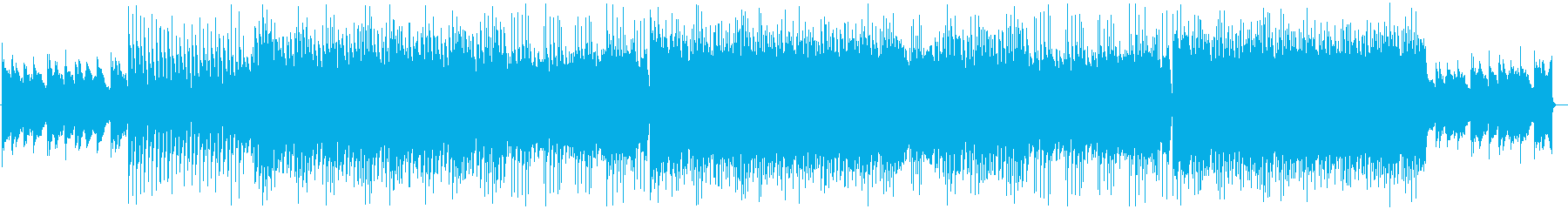 広大な世界を旅するエレキギターのハウスの再生済みの波形