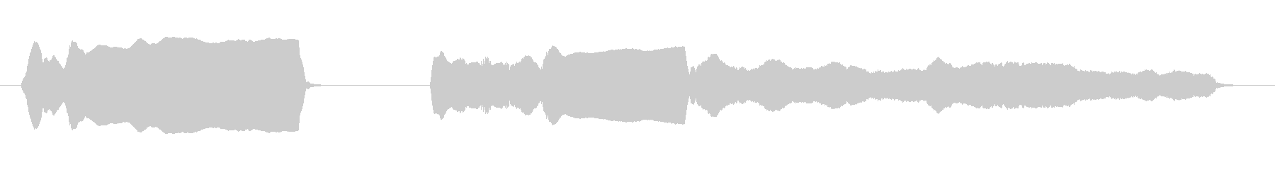 脱力系バッハ(トッカータとフーガ)の未再生の波形