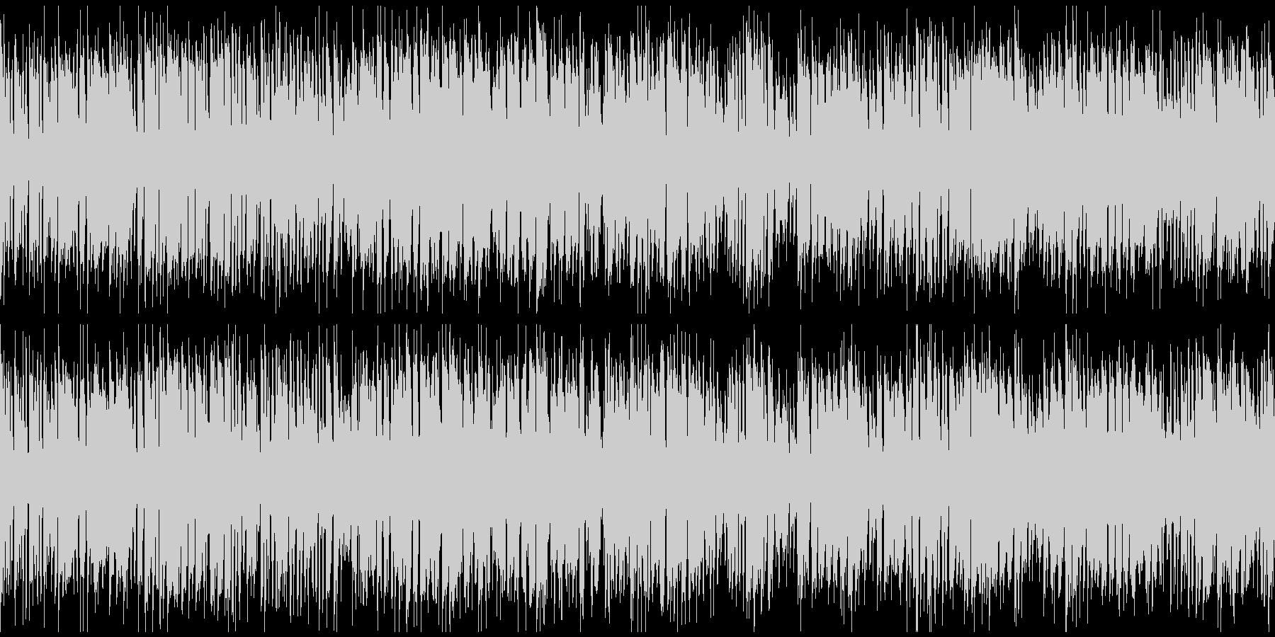 ドタバタ騒がしいコメディ ※ループ版の未再生の波形
