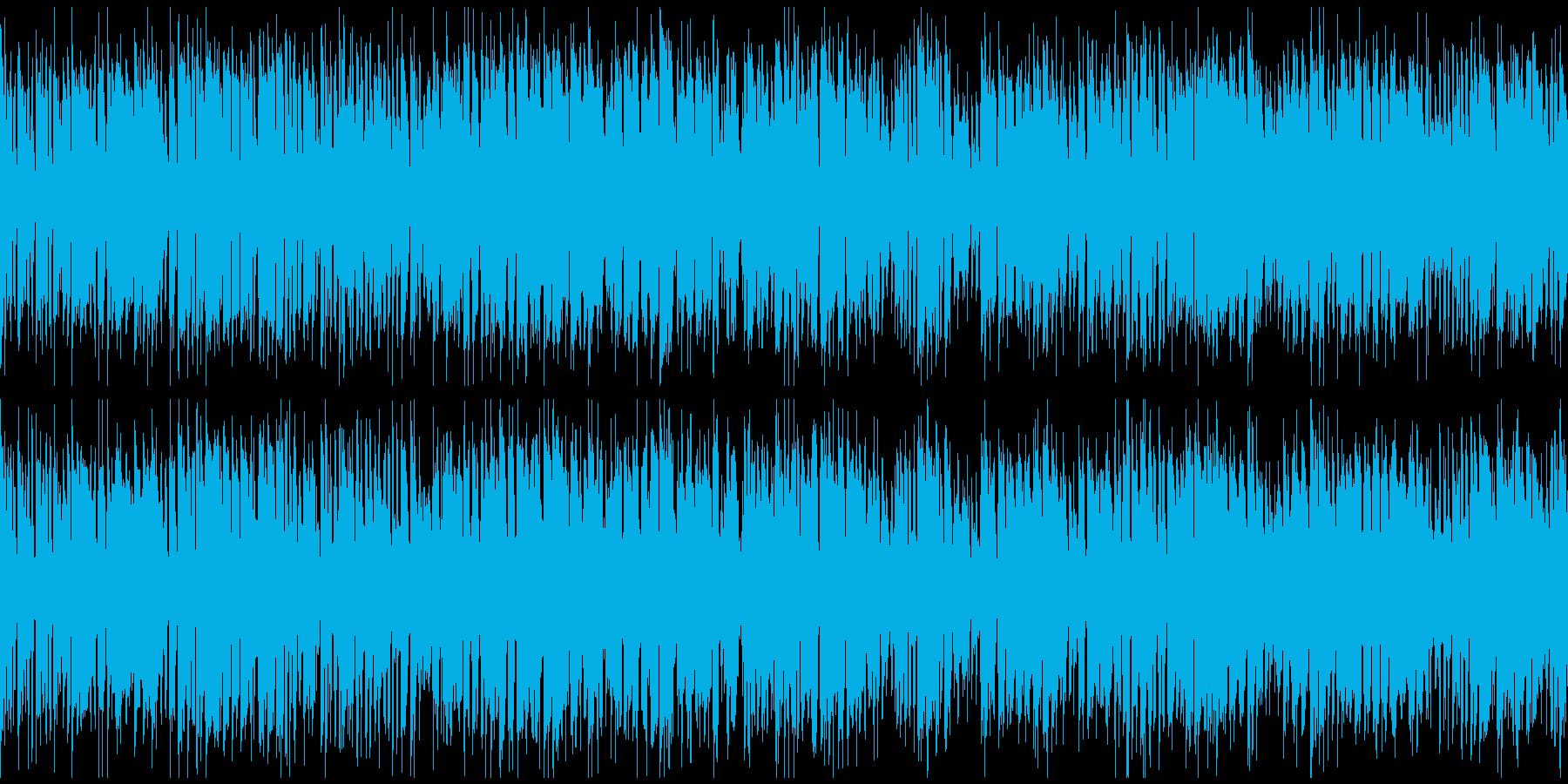 ドタバタ騒がしいコメディ ※ループ版の再生済みの波形