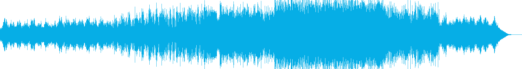 シネマティック風BGMの再生済みの波形