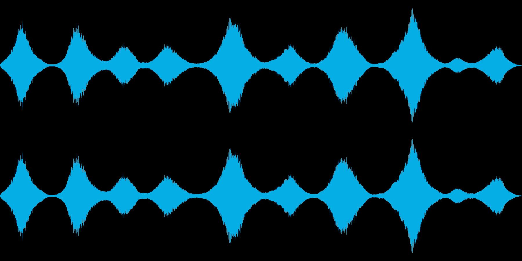 波の音の再生済みの波形