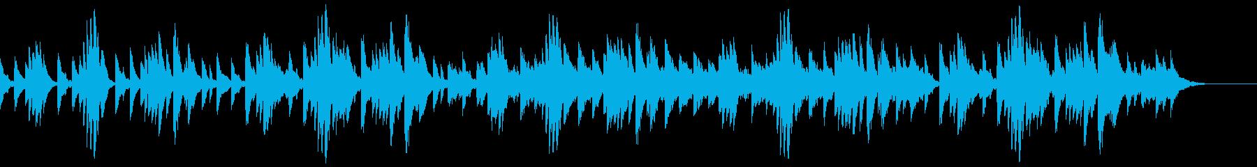切なくて優しい雰囲気のピアノ曲の再生済みの波形
