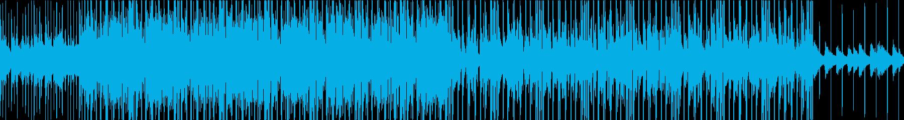 ピアノとシンセのJazz_BGMの再生済みの波形