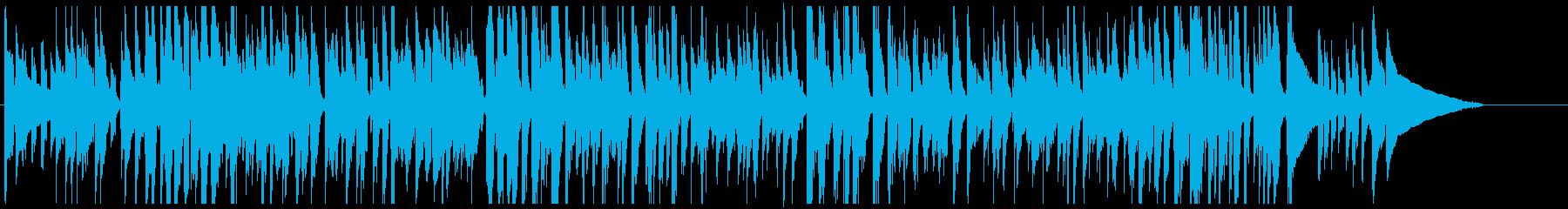 ナイロン弦ギターのファンク風ジングルの再生済みの波形