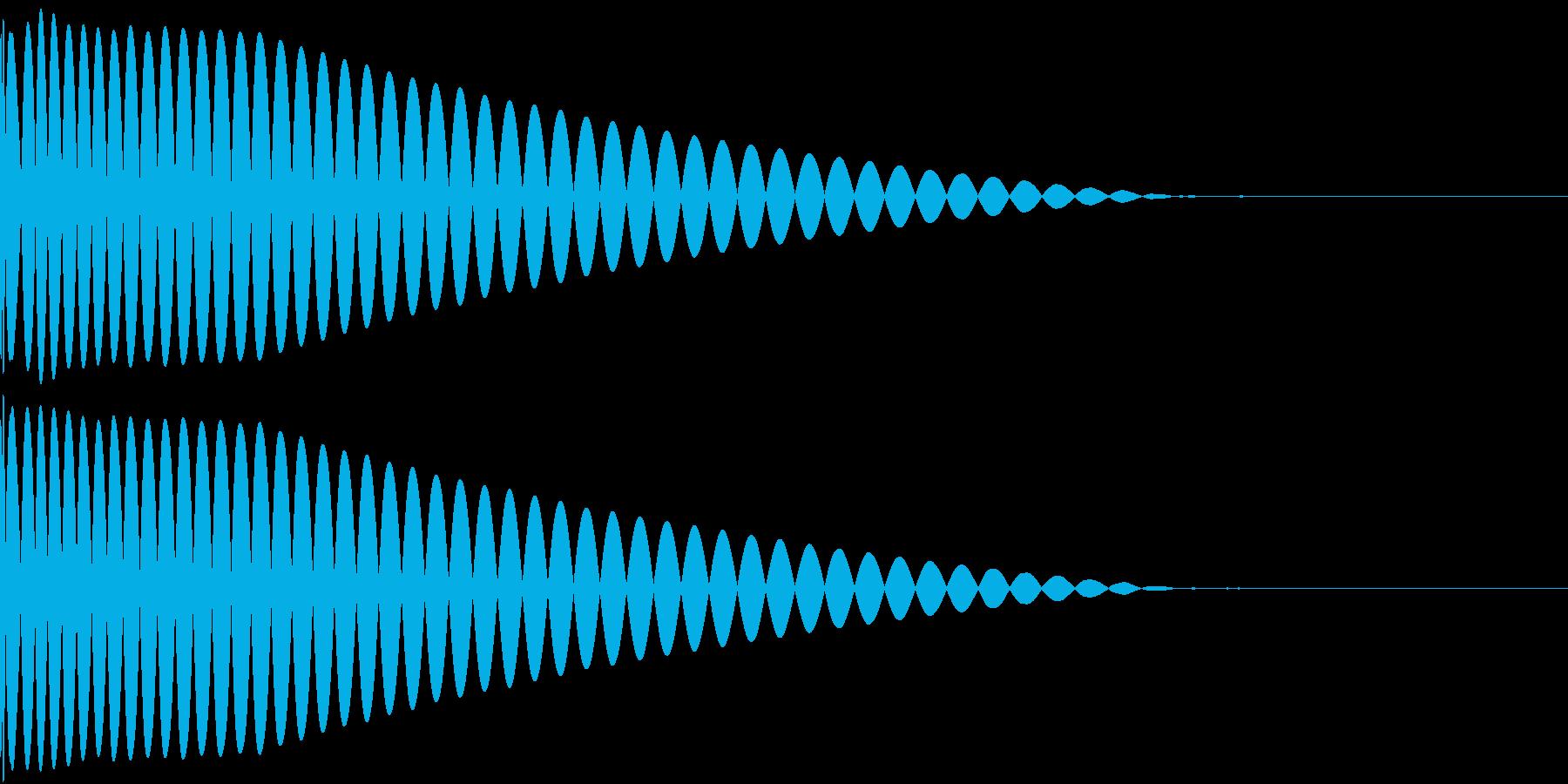 DTM Kick 8 オリジナル音源の再生済みの波形