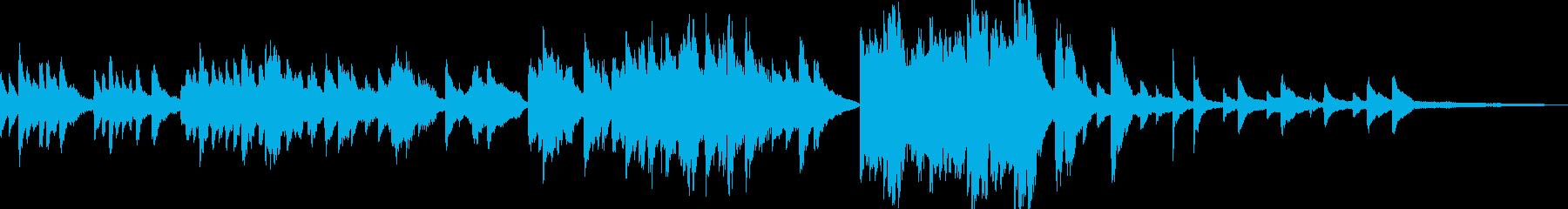 ゆったりとしたクラシカルなピアノ・ソロの再生済みの波形