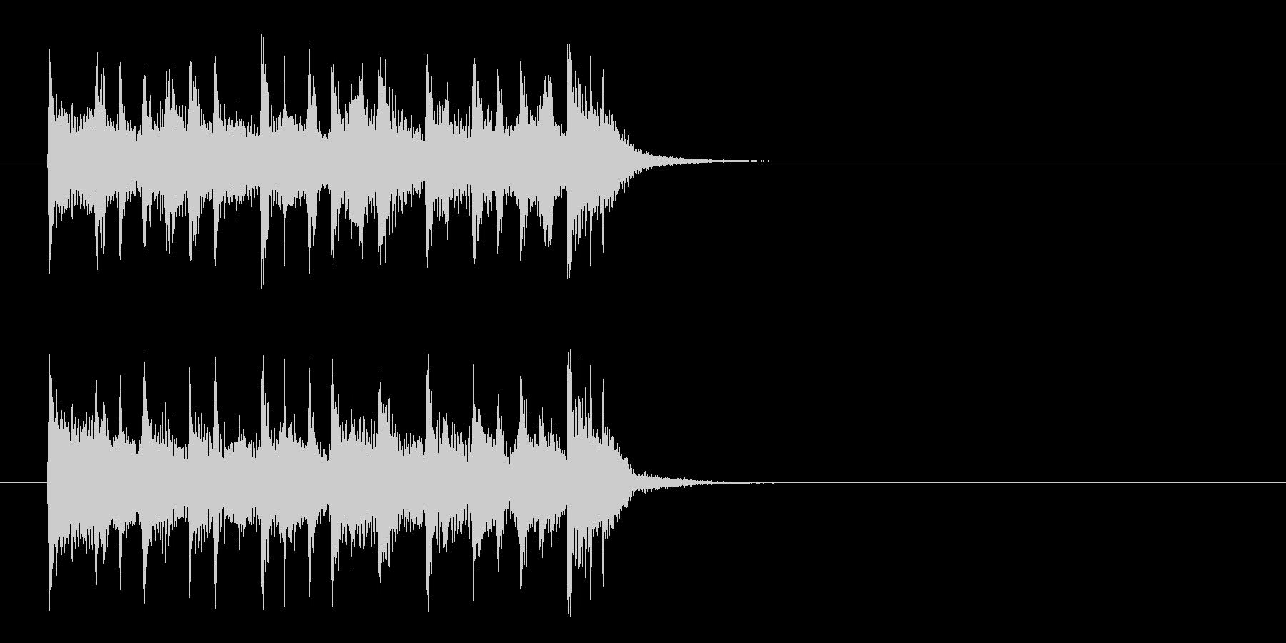 ジングル(深刻なドキュメント風)の未再生の波形