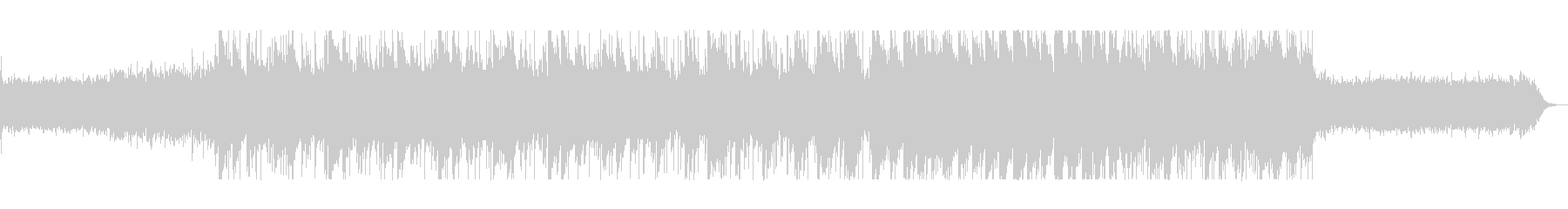 落ち着くゆったりとしたシンセサイザー曲の未再生の波形