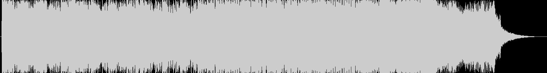 疾走感のあるデジタルポップロックの未再生の波形