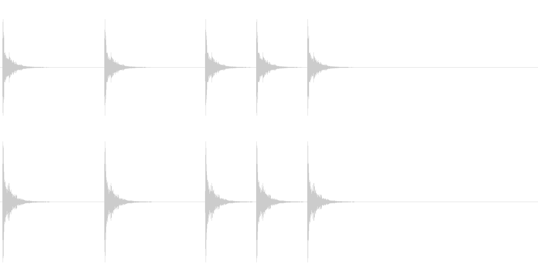 汎用32 ドラマーのカウント スティックの未再生の波形