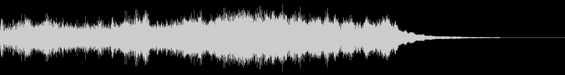 オーケストラと電子音のジングルBの未再生の波形