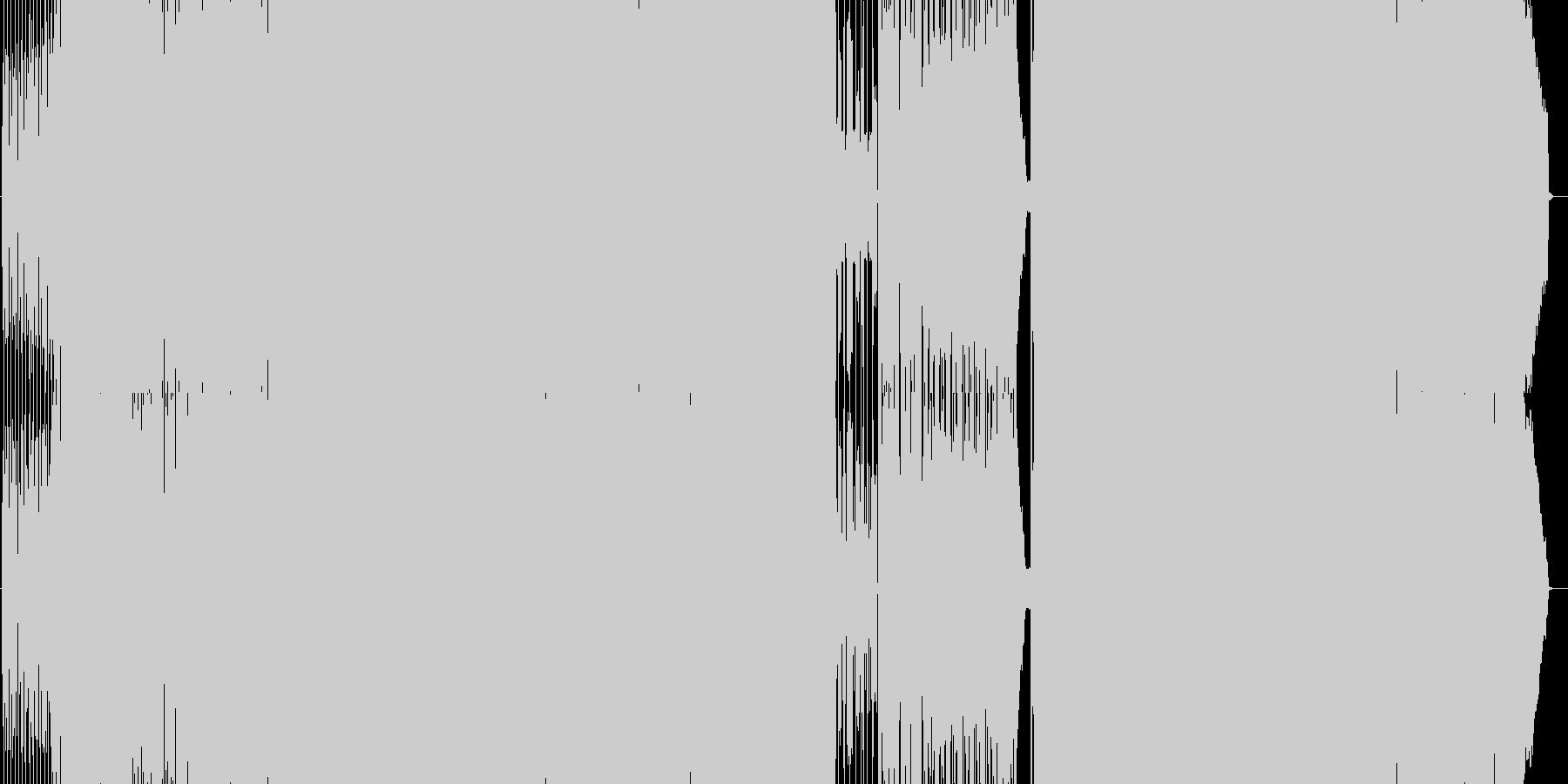 にぎやかなコミカルアップテンポの未再生の波形