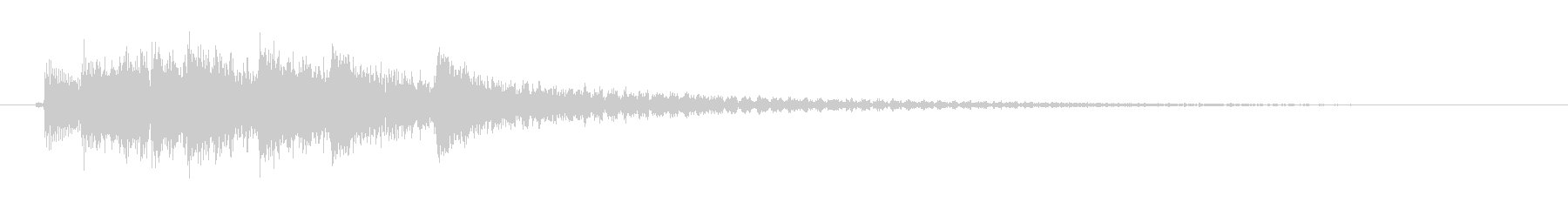 【和風】明るめな雰囲気の琴の効果音の未再生の波形