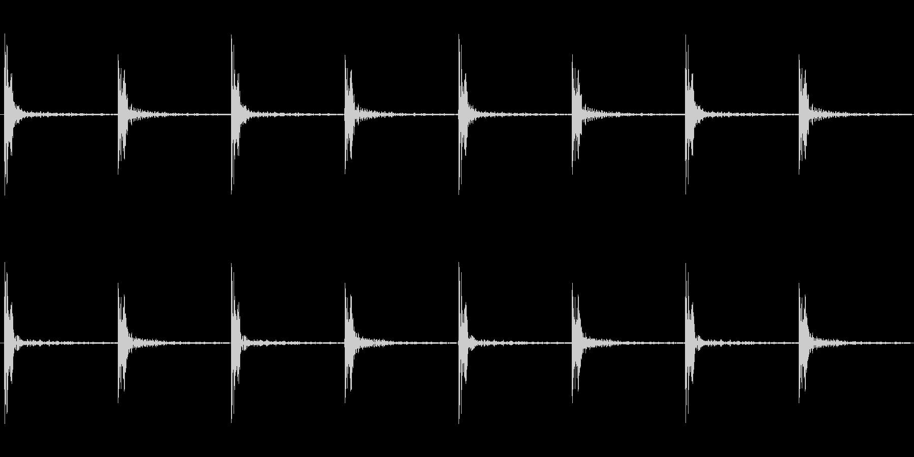 足音 パターンBロング版 重量感ある足音の未再生の波形