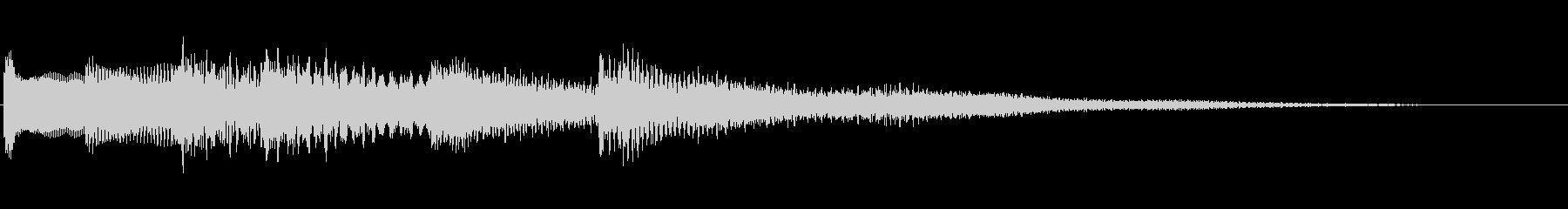少しセンチメンタルなピアノジングルの未再生の波形