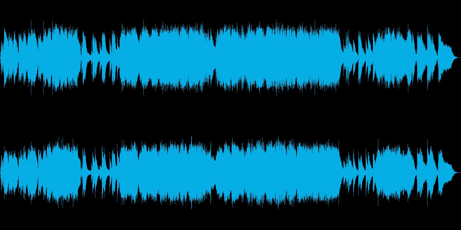 生演奏!フルートの感動的なバラードの再生済みの波形