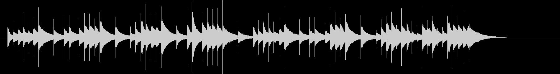 ファンタジーなオルゴール曲の未再生の波形
