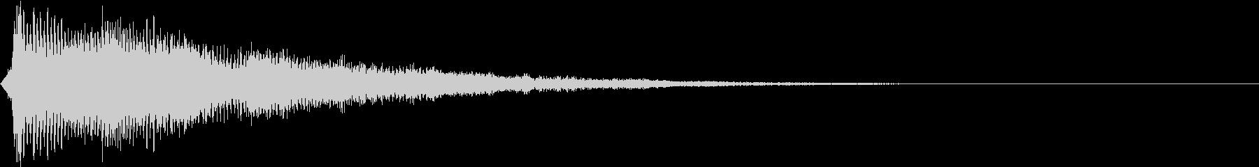 テロップ紹介(ラッパとピアノ:ポワン)3の未再生の波形