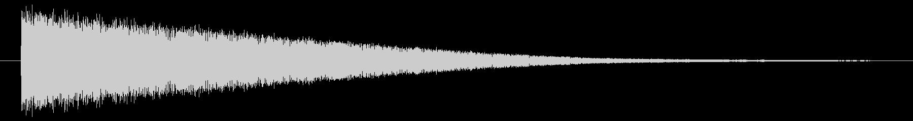 バシューン/発射/着地/撃破/の未再生の波形