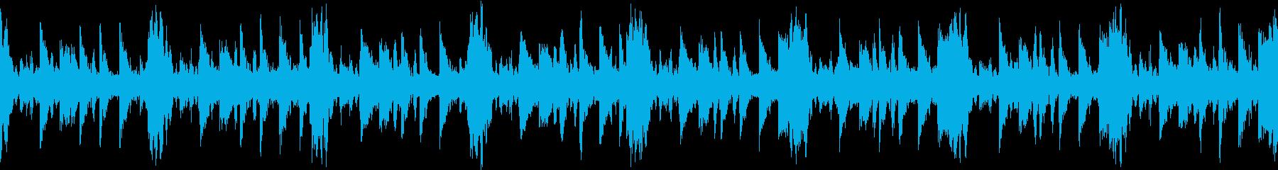インダストリアルな雰囲気のビートの再生済みの波形