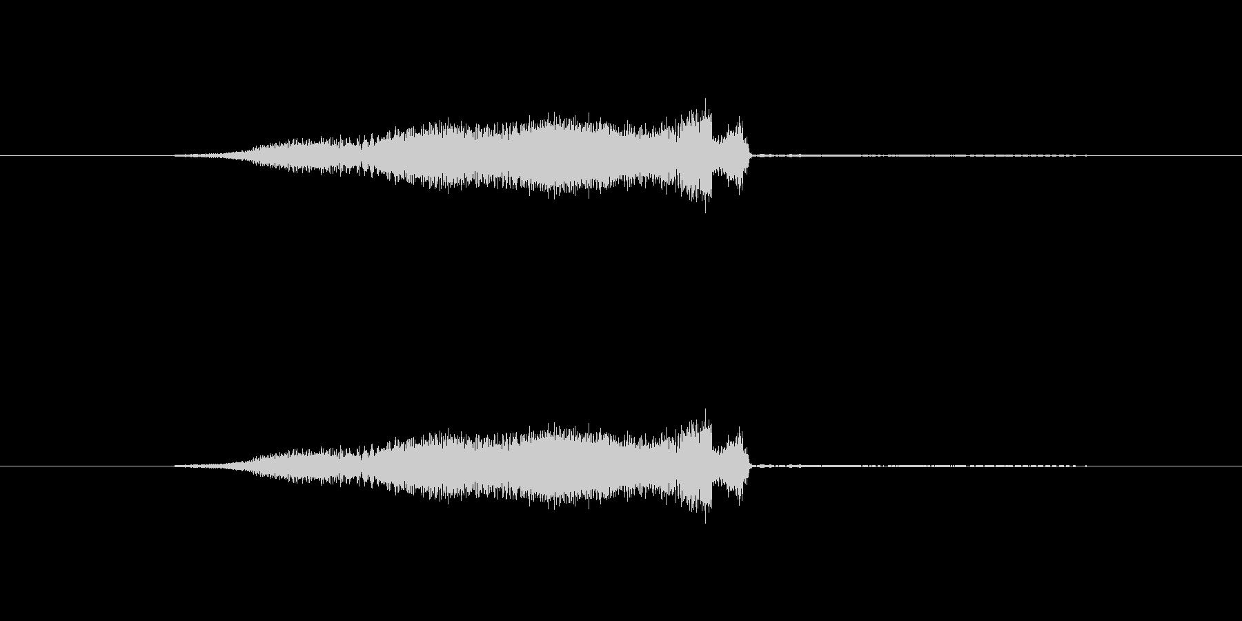 特撮 スイープを確認01の未再生の波形